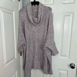 Pink colorful knit sweater from loft 24/26
